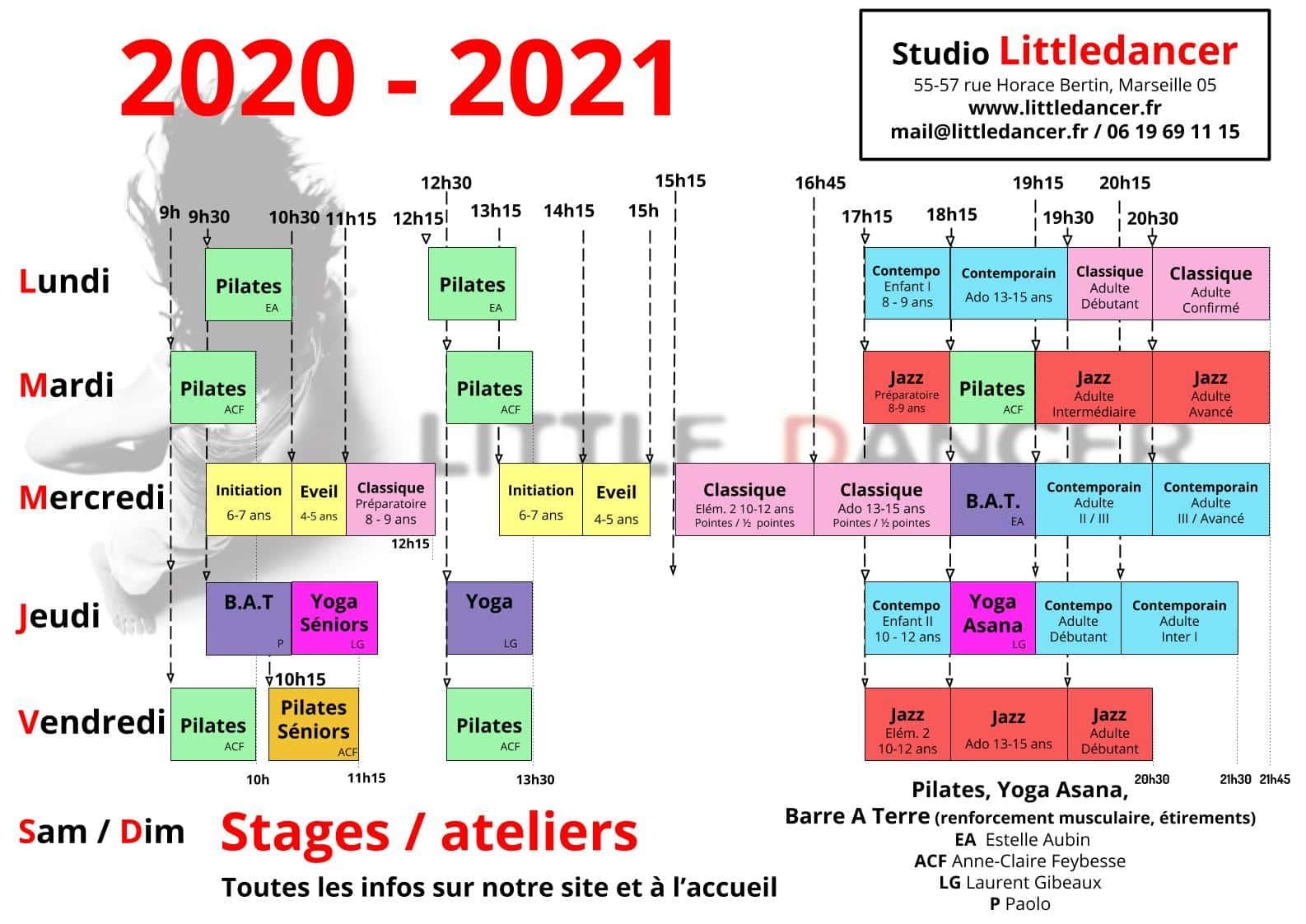 Planning Littledancer 2020 - 2021